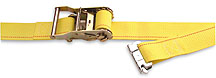 Cargo control logistic strap with ratchet